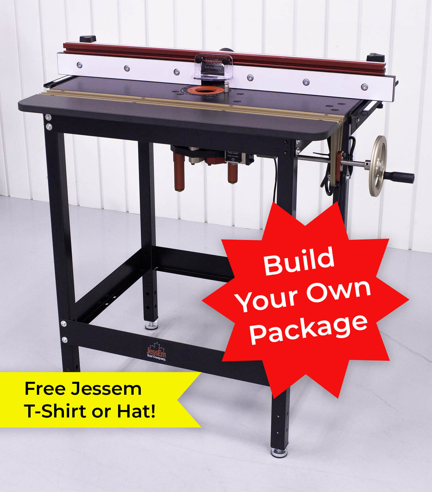 Jessem Mast-R-Lift II Excel Router Table Package - Build Your Own | PMC Woodworking Machinery & Tools | Hammond, LA